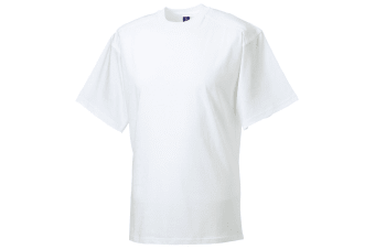 Russell Europe Mens Workwear Short Sleeve Cotton T-Shirt (White) (4XL)