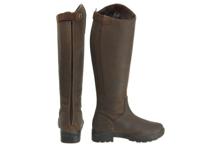 HyLAND Adults Waterford Winter Country Riding Boots (Dark Brown) (4 UK)