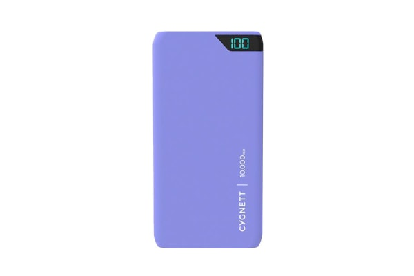 Cygnett ChargeUp Boost 10,000 mAh Dual USB 2.4A Power Bank - Lilac (CY2506PBCHE)