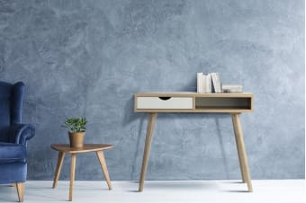 Shangri-La Desk with Drawer - Nyhavn Collection (White & Oak)