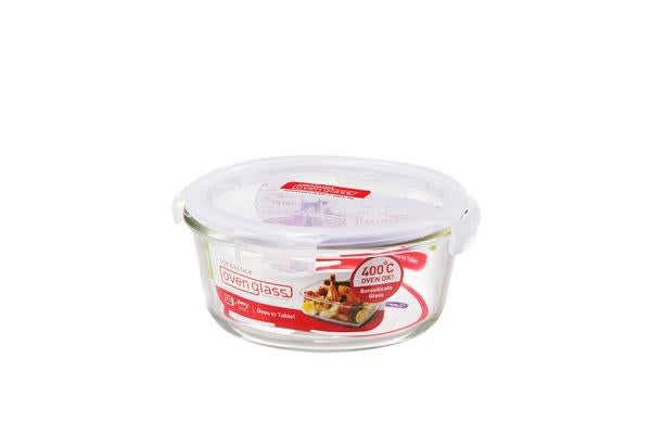 Lock & Lock Glass Round Container 650ml