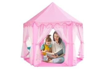 Girls Pink Princess Castle Play Tent
