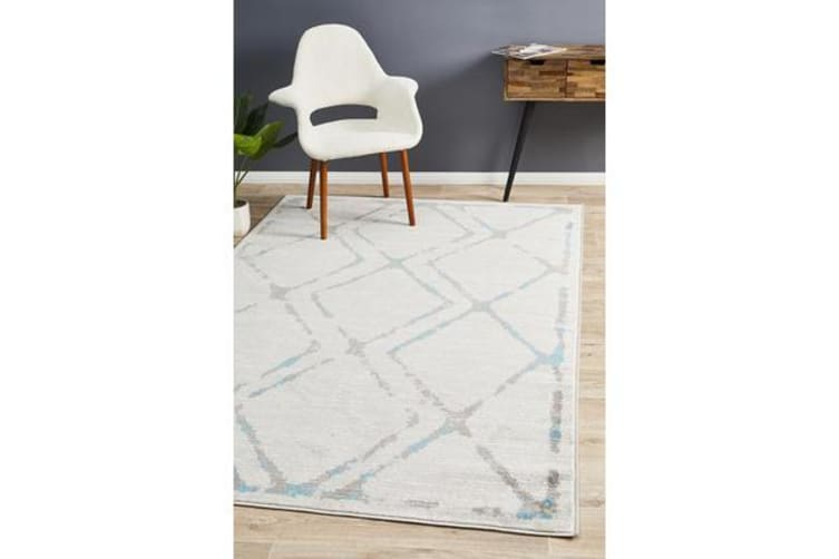 Felicia Blue & Grey Soft Coastal Rug 230x160cm