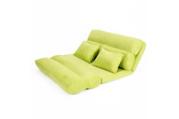 Lounge Sofa Fabric Double Bed PISCES - GREEN