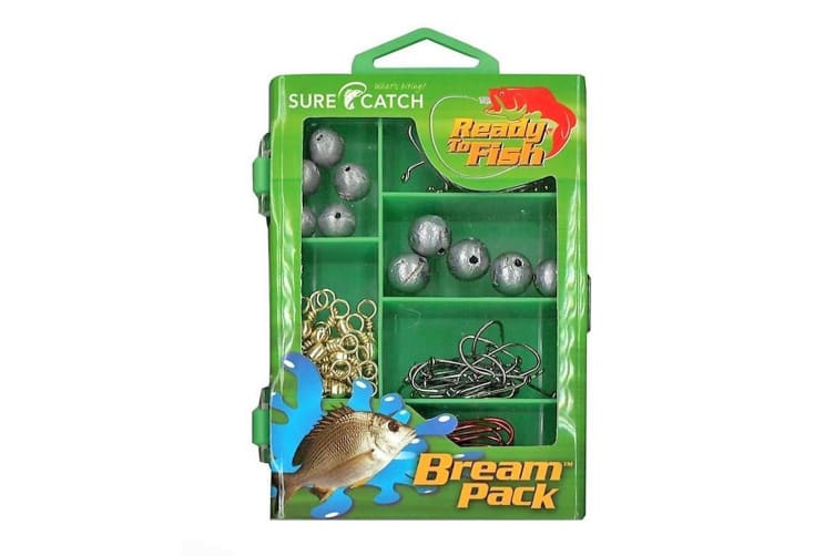 Surecatch 130pc Bream Pack In Fishing Tackle Box - Tackle Kit