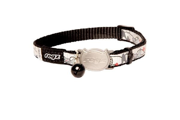 Rogz Reflectocat Safeloc Collar Black Cat - XS