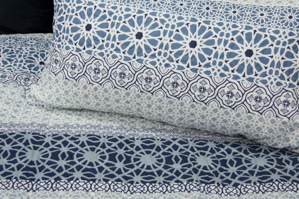 Ardor Boudoir Midnight Quilted Quilt Cover Set (King)