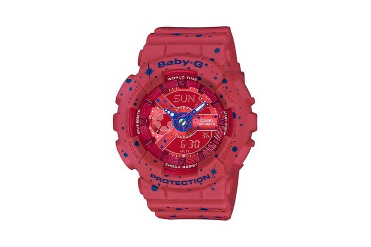 Casio Baby-G Red/Blue Starry Sky Series Female Watch BA110ST-4A