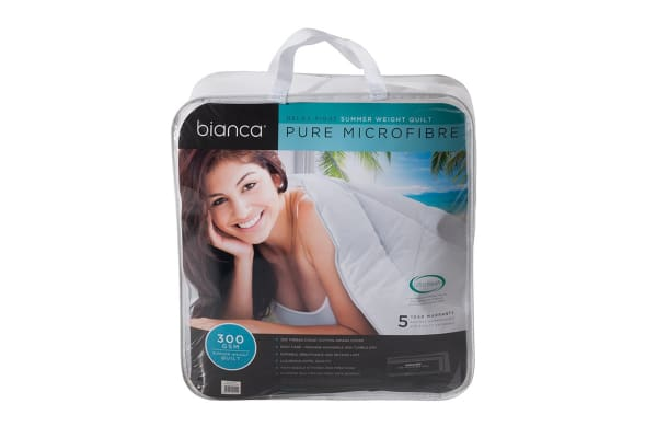 Bianca Relax Right 300GSM Summer Microfibre Quilt - Single Bed