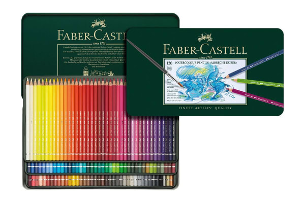 Faber-Castell Albrecht Durer Watercolour Pencils - 120 Assorted Colours (Tin Case)