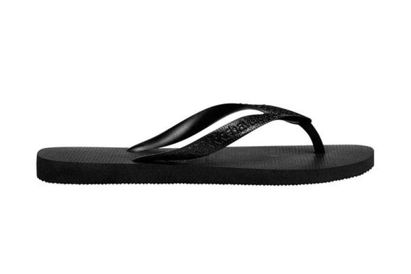 Havaianas Top Thongs (Black, Brazil 35/36)