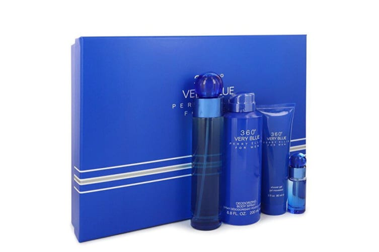 Perry Ellis Perry Ellis 360 Very Blue Gift Set - 3.4 oz Eau De Toilette Spray + Mini Eau De Toilette Spray + 3 oz Shower Gel + 6.8 oz Body Spray