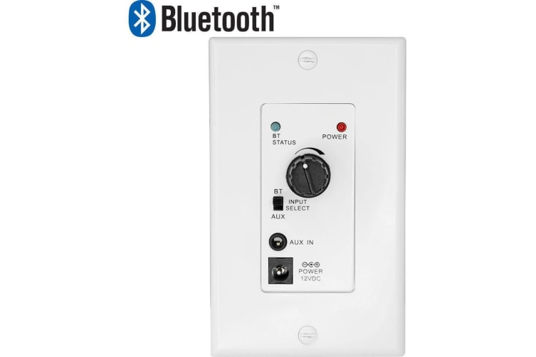 Pro.2 15W Bluetooth Wall Plate Amp Stereo Amplifier Class D Audio Power/Volume
