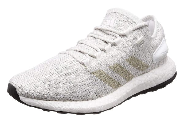 Adidas Men's PureBOOST Running Shoe (White/Grey, Size 8 UK)