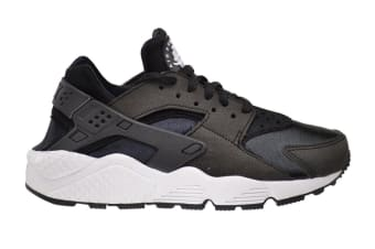 Nike Women's Air Huarache Run Running Shoe (Black/White, Size 10.5)