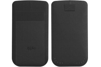 Mossimo Black Genuine Leather Pouch Cover/Case W/Card Holder For Iphone 6 4.7""