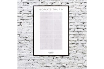 50 Ways To Lay Sexy Scratch & Reveal Sex Positions Poster 70x50cm