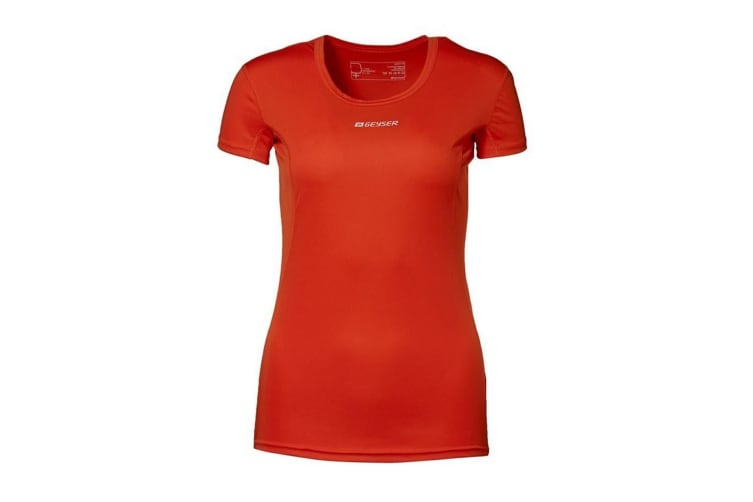 ID Womens/Ladies Active Short Sleeve Fitted Sport T-Shirt (Orange) (XL)