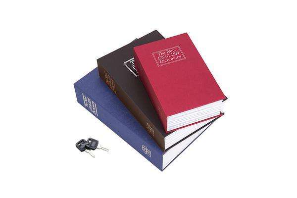 Dictiory Book Money Jewellery Locker With Key RED