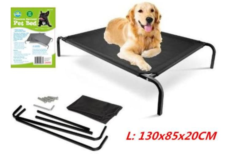 Bed Elevated Pet Dog Cot Outdoor Indoor Large Raised Frame Steel Camping 130cm D