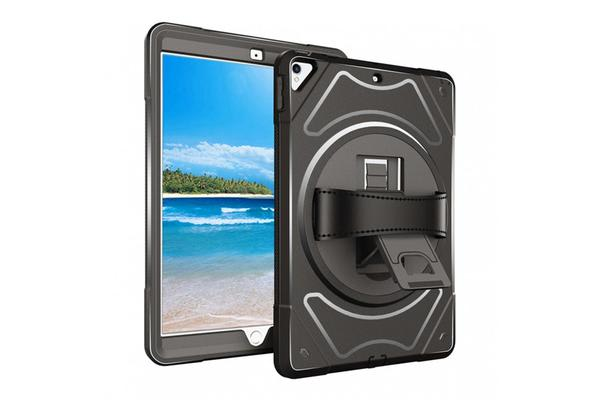"Armor-X iPad Pro 10.5""  Ultra 3 layers shockproof rugged case with hand strap and kick-stand"