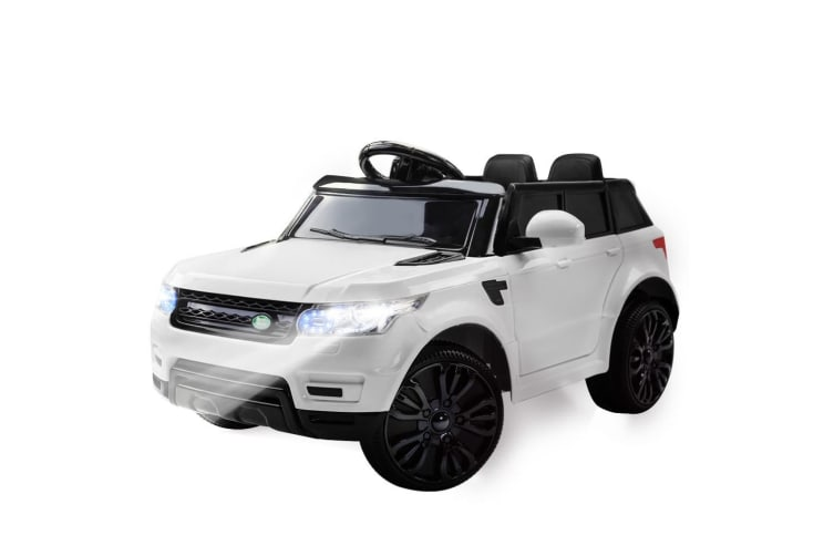1393b349ba8 ROVO KIDS Ride-On Car Electric Battery Childrens Toy Powered w/ Remote 12V  White
