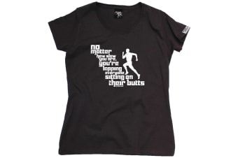 Personal Best Running Tee - No Matter How Slow You Are - (XX-Large Black Womens T Shirt)