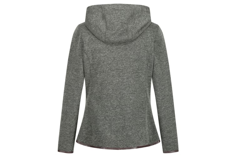 Regatta Womens/Ladies Ruslana Heavyweight Hooded Fleece (Dark Khaki) (16 UK)