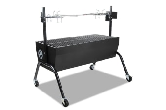 Electric Rotisserie Charcoal BBQ Smoker Grill Spit Roaster Outdoor