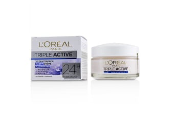 L'Oreal Triple Active Hydrating Night Cream 24H Hydration - For All Skin Types 50ml