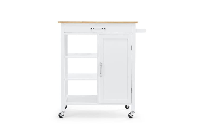 Shangri-La Molokai Wooden Kitchen Trolley (White)
