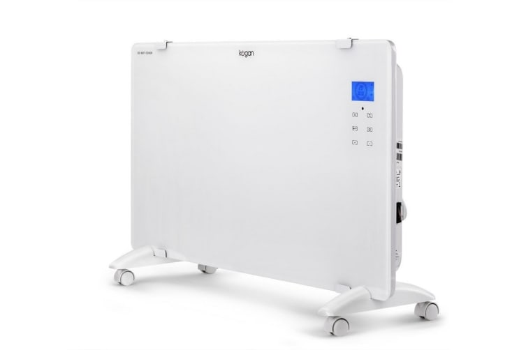 Kogan 1500W White Glass Portable Electric Panel Heater