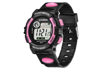 Men'S Electronic Fashion Multifunctional Sports Waterproof Watch Pink
