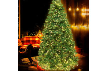 1.8M 6FT Christmas Tree 874 LED Pre Lights Decorations Warm White