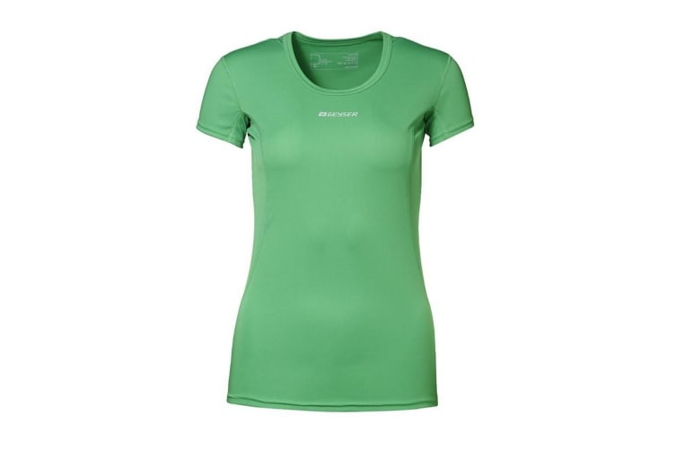 ID Womens/Ladies Active Short Sleeve Fitted Sport T-Shirt (Green) (L)
