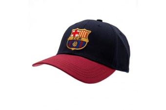 FC Barcelona Touch Fastening Baseball Cap (Navy blue) (One Size)