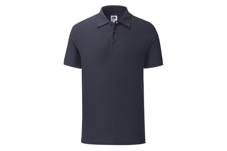Fruit Of The Loom Mens Tailored Poly/Cotton Piqu Polo Shirt (Deep Navy) (S)