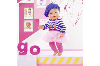 Baby Born Fashion Collection - Blue Dress with Leggings Set