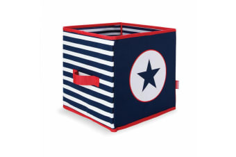 Penny Scallan Nursery Collapsible Storage Box Navy Star