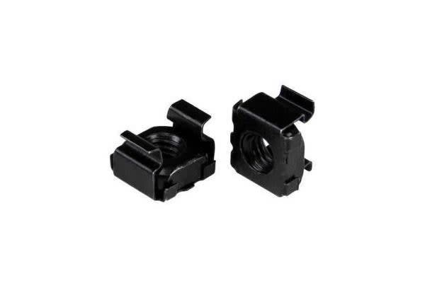 STARTECH M5 Cage Nuts - 100 Pack - M5 Nuts - 100 Pack Black - M5 Mounting Cage Nuts for Server Rack & Cabinet