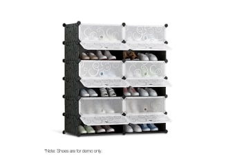 12 Shoe Stackable Compartments (Black)