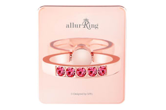 GPEL Charlotte Rose Gold Allur Ring & Stand for Smartphones