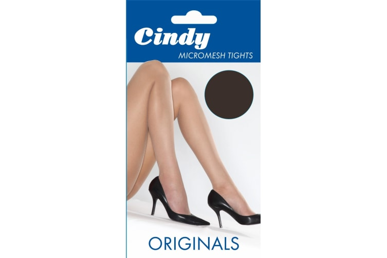 """Cindy Womens/Ladies Micromesh Tights (1 Pair) (Barely Black) (One Size (5ft-5ft8""""))"""