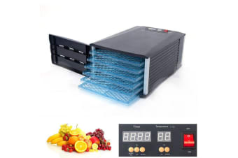 New Design 6 Tray Food Fruit Dehydrator With Door and Timer Dryer