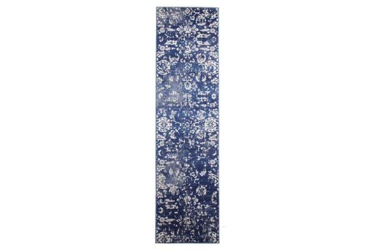 Navy  Vintage Look Runner - 500X80CM