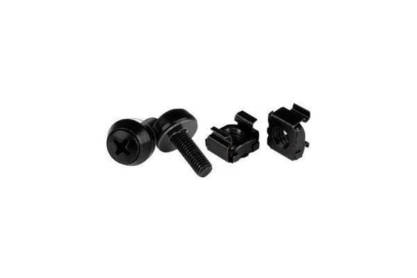 STARTECH M5 x 12mm - Screws and Cage Nuts - 50 Pack Black