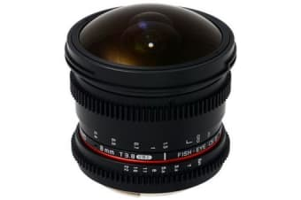 New Samyang 8mm T3.8 Asph IF MC Fisheye CS II VDSLR Lens for Canon (FREE DELIVERY + 1 YEAR AU WARRANTY)