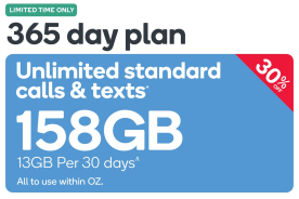 Kogan Mobile Prepaid Voucher Code: MEDIUM (365 Days | 13GB Per 30 Days)