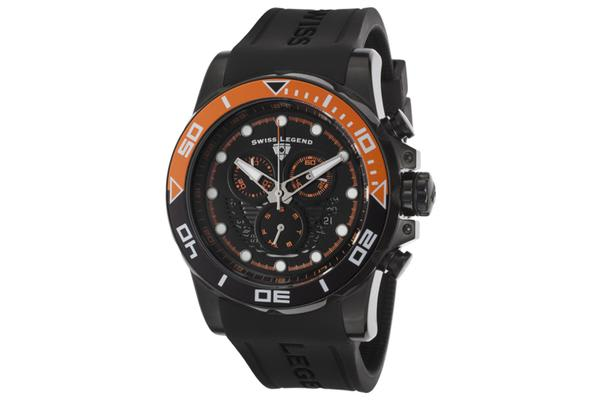 Swiss Legend Men's Avalanche Chronograph Black Dial Black Silicone (SL-21368-BB-01-ORAB)