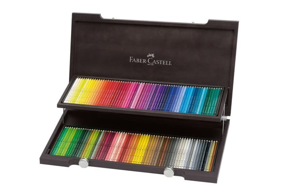 Faber-Castell Polychromos Pencils - 120 Assorted Colours (Wood Case)